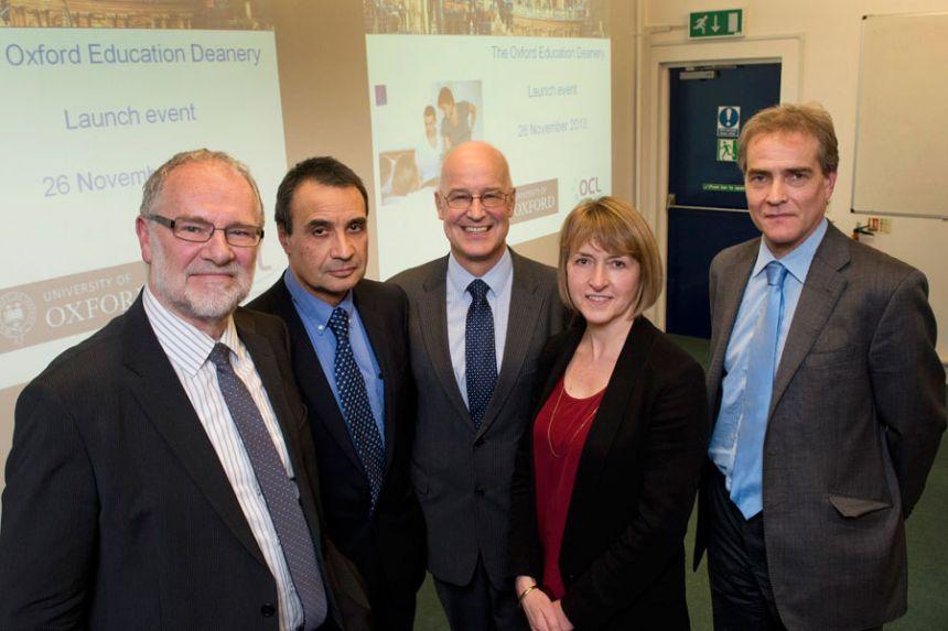 Professor Andrew Hamilton launches the Education Deanery
