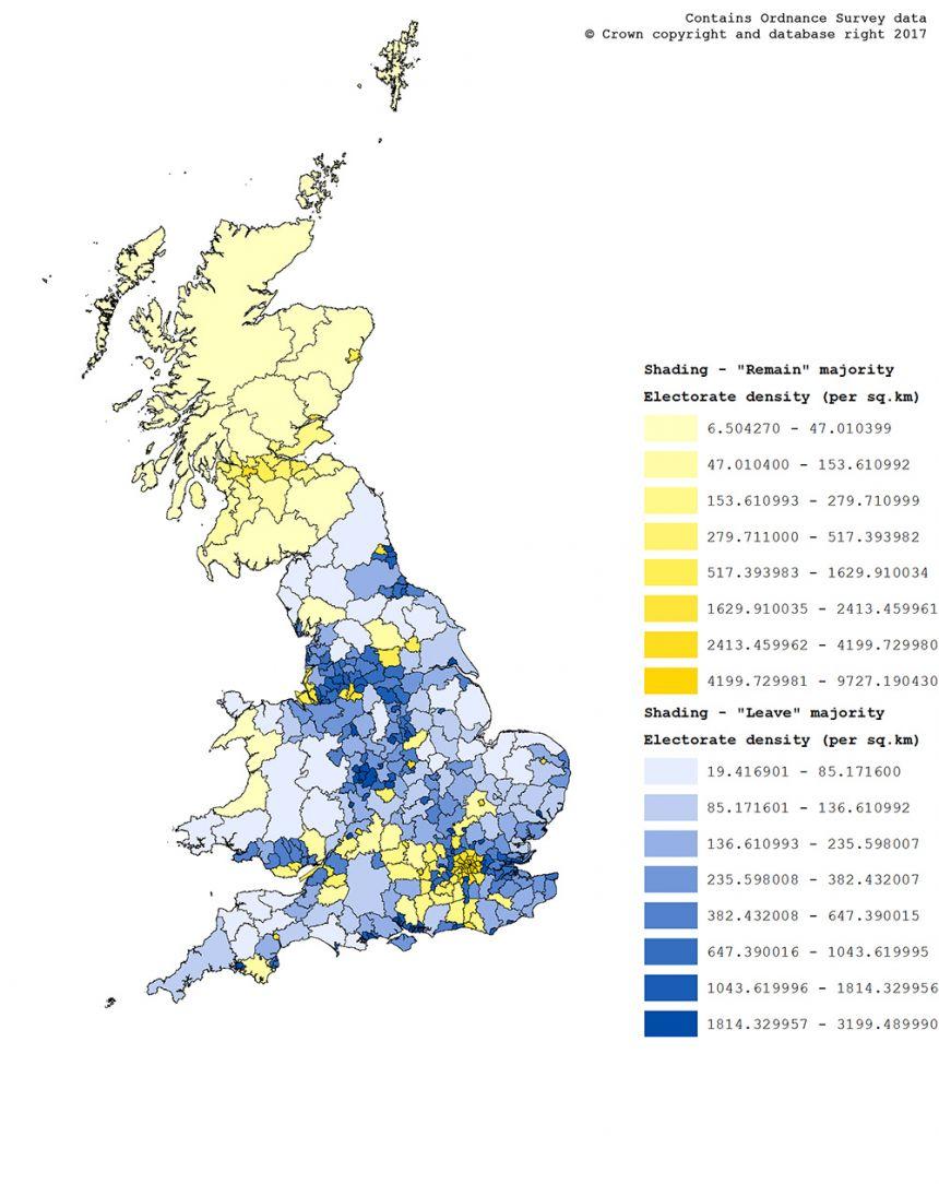 Brexit density map