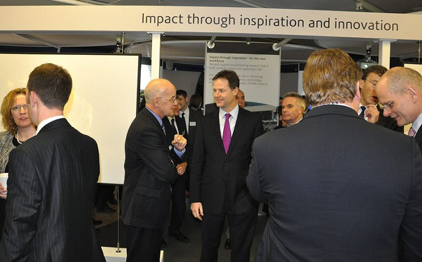 Greeting the Deputy Prime Minister at the City Deal launch