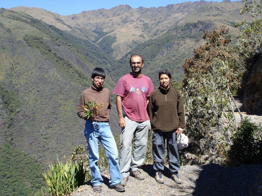 Professor Malhi in the Peru transect
