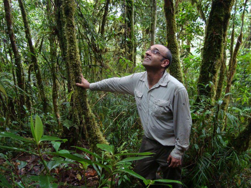 Professor Malhi in a Peruvian cloudforest