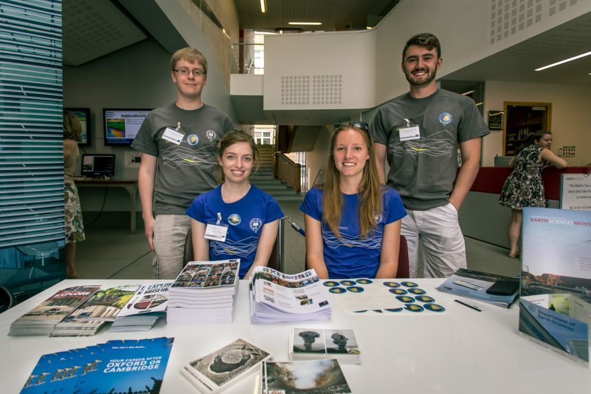 The Earth Sciences Open Days helpers.