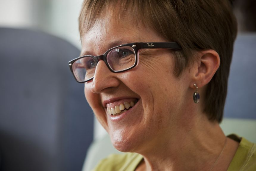Ms Ruth Atkins from Oxfordshire was injected with the candidate Ebola vaccine in her upper arm