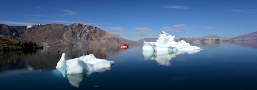 """Climate change is currently at its most exaggerated in polar areas and having worked in the Arctic for thirty years, Professor Smith has witnessed rapid polar melting at first hand. Of the experience he said: \""""It is happening, and it shows no signs of slo"""