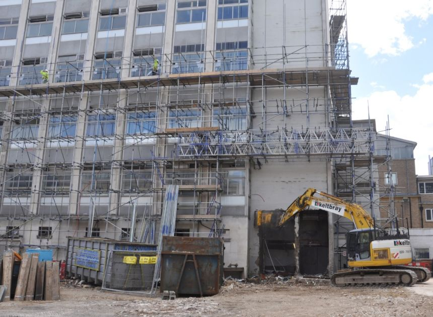 The last days of the Hans Krebs Tower