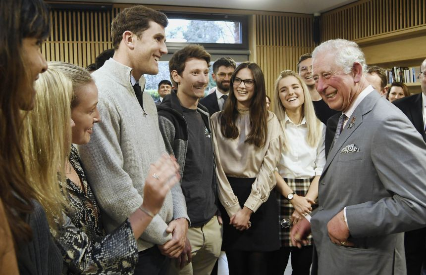HRH The Prince of Wales was greeted by students, academics, and alumni at Kellogg College
