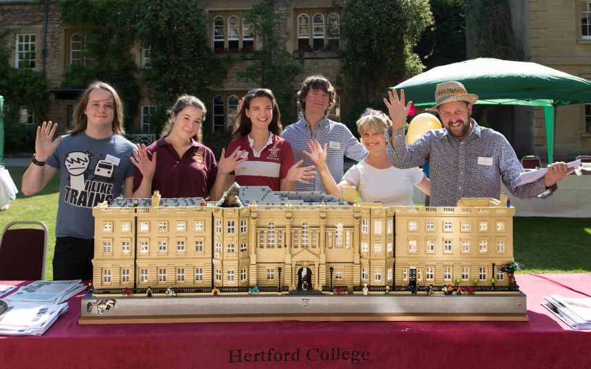 Hertford College had a LEGO model of the college on display