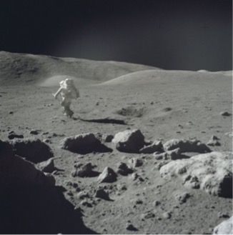 Jack Schmitt on the Moon during the Apollo 17 mission (credit NASA)