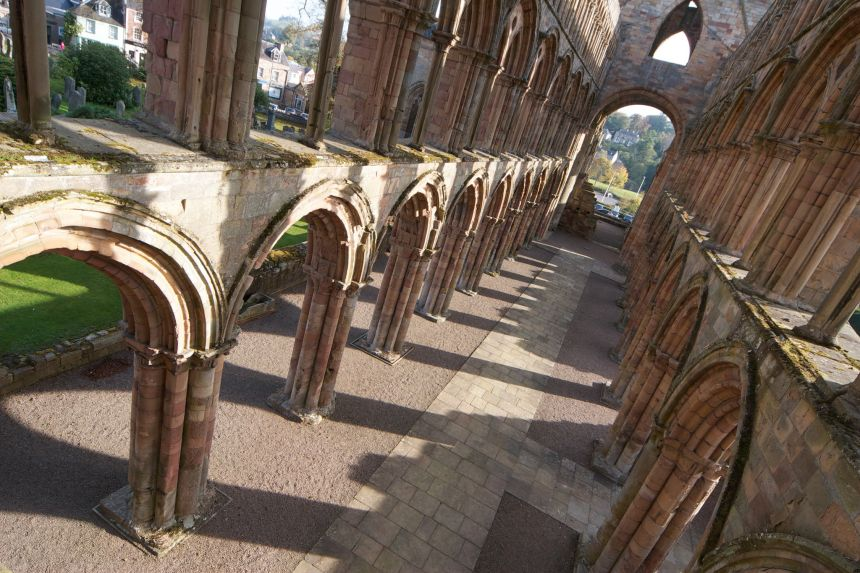 An earlier concert was held at Jedburgh Abbey, which is the sort of venue where the original piece might have been played
