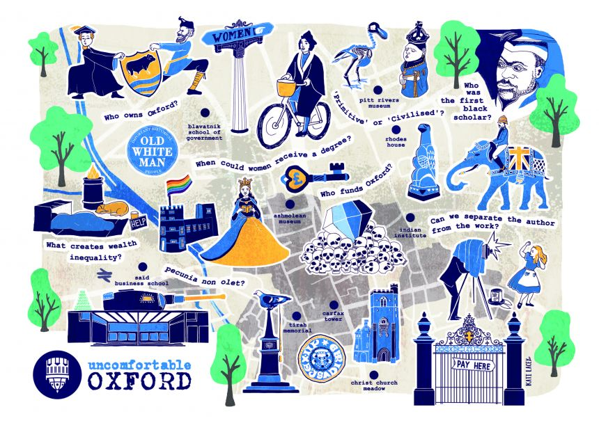 Uncomfortable Oxford Map by designer and illustrator Kati Lacey.