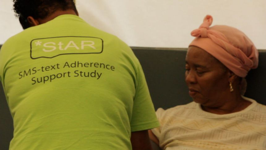 The StAR team in action, supporting hypertension treatment at a clinic in the Western Cape