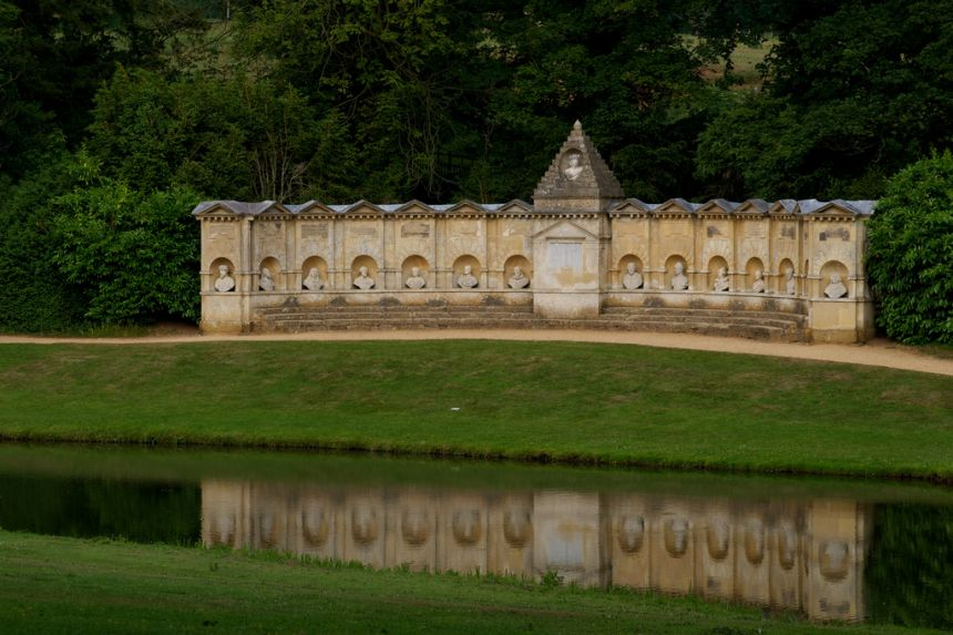 The Temple of British Worthies in the Elysian Fields (Flickr: Stuart Dootson)