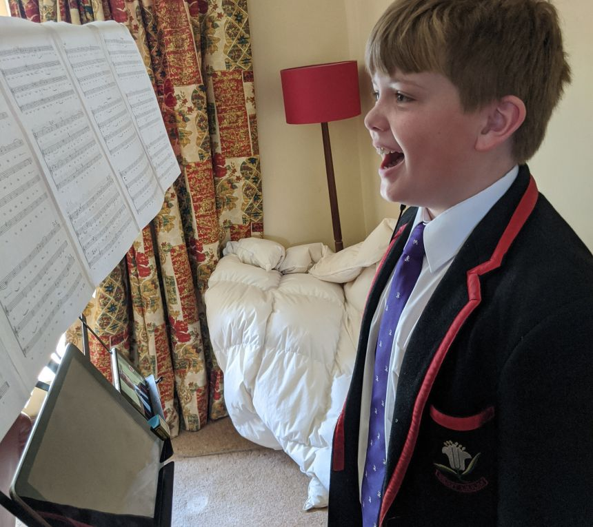 Choir members had to fashion makeshift working recording studios at home, including using duvets and soft furnishings to help with acoustics