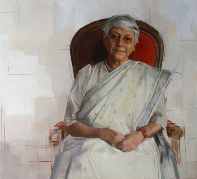 Portrait of Professor Lahiri
