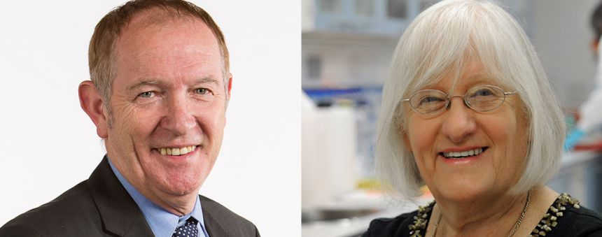 Kevin Barron MP and Professor Valerie Beral