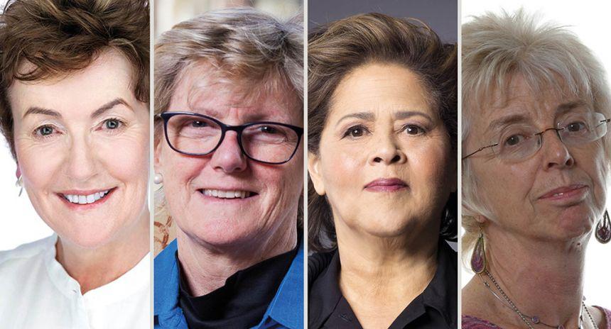 Head and shoulder images of Professor Linda Colley CBE; Professor Dame Sally Davies; Professor Anna Deavere Smith; Baroness Ruth Lister CBE