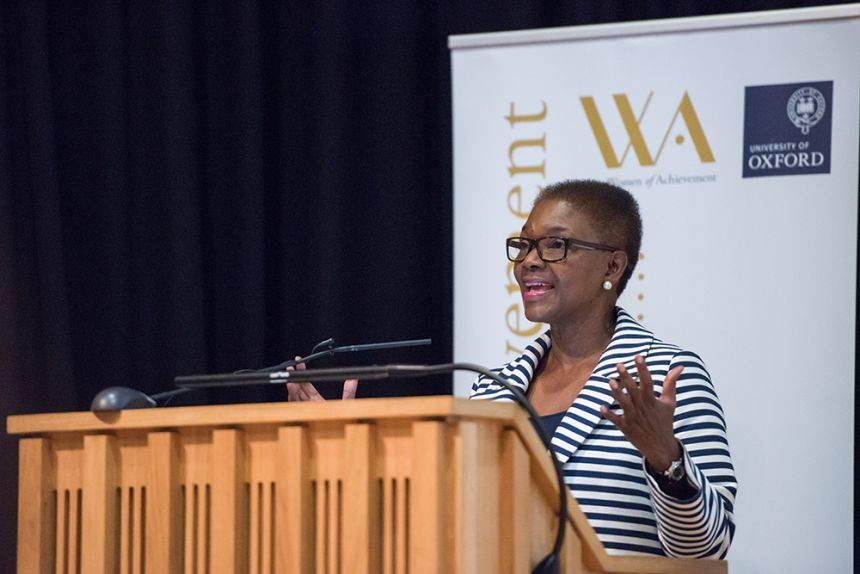 Baroness Amos spoke about female leadership in her Women of Achievement lecture