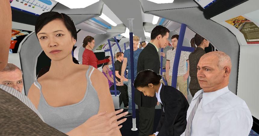 VR tube scene