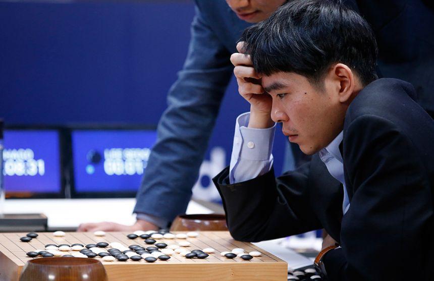Lee Sedol playing Go