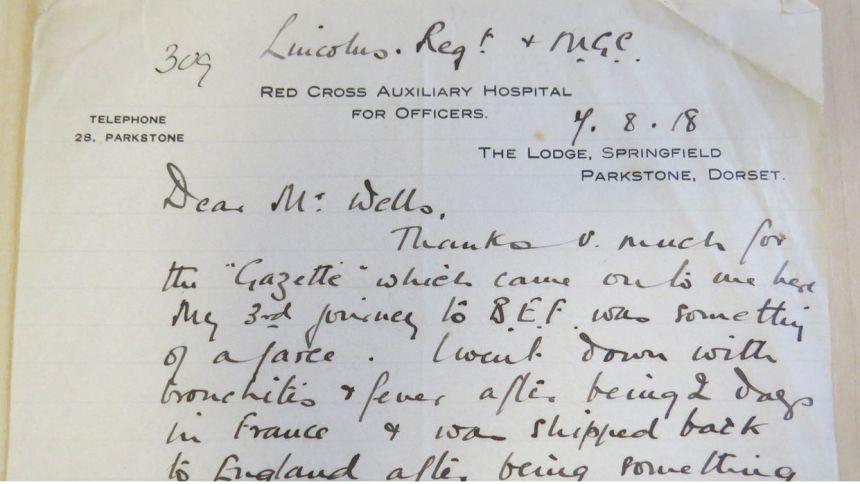 Aubrey Orde Ward's letter 17/08/18