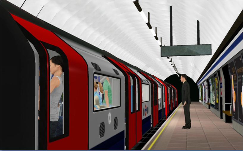 The study used a virtual reality journey on the tube.