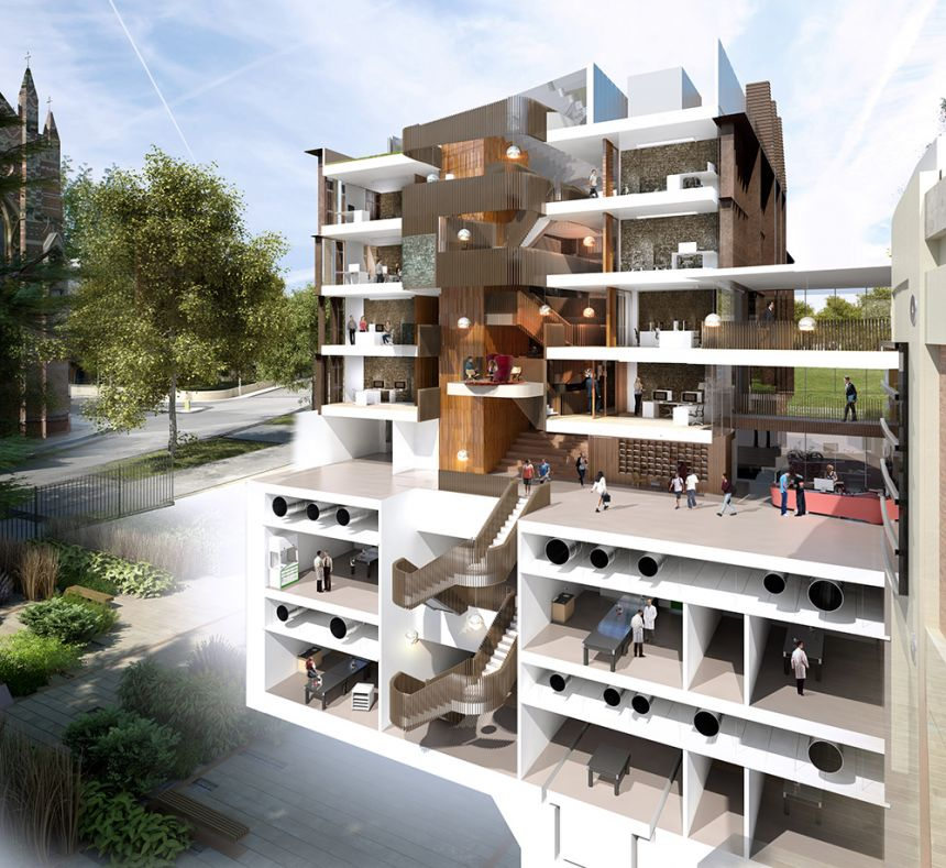 Artist's impression of the new Beecroft Building