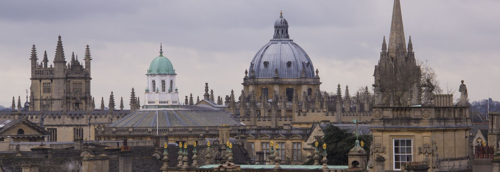 The Oxford skyline on a cloudy day