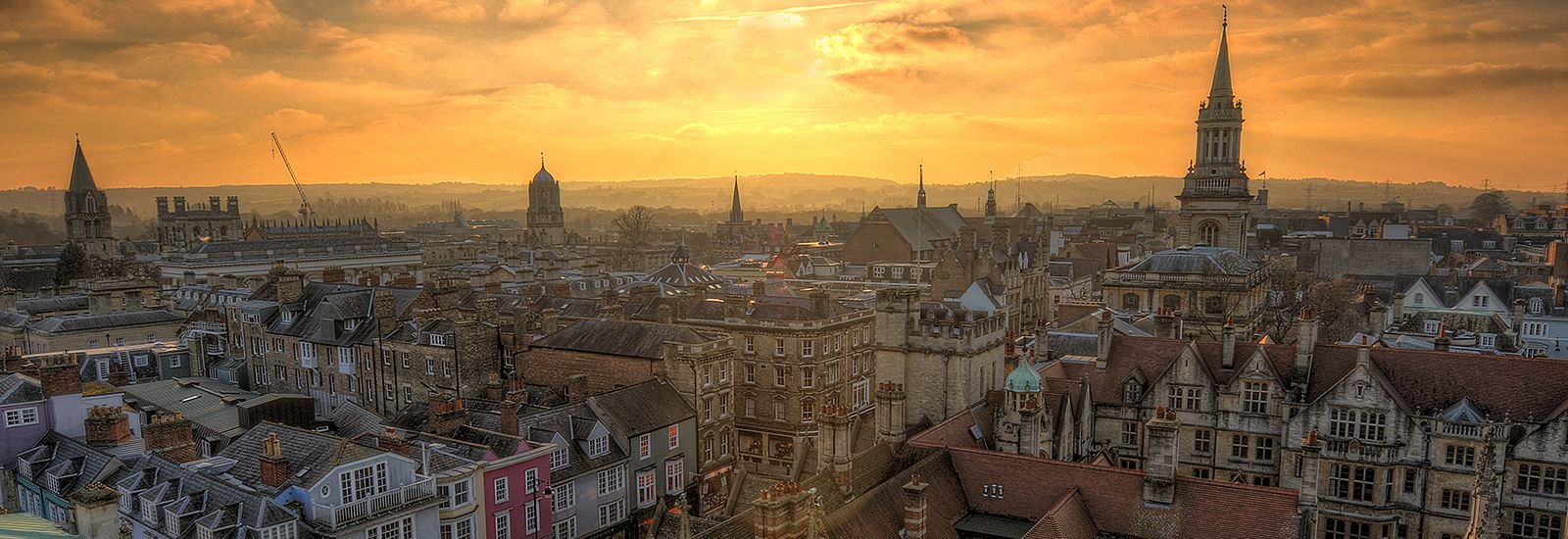 Sunset over Oxford