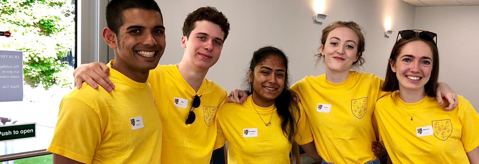 students in yellow t-shirts