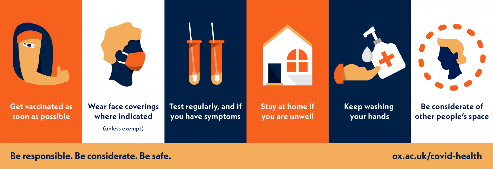 Six steps to stay COVID-safe