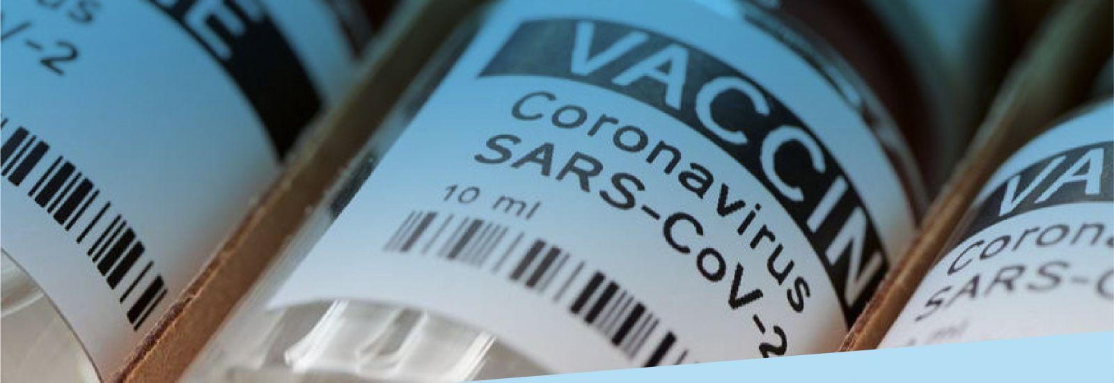 Vials of the Coronavirus SARS-CoV-2 vaccine