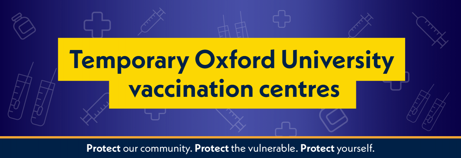 Temporary Oxford University vaccination centres