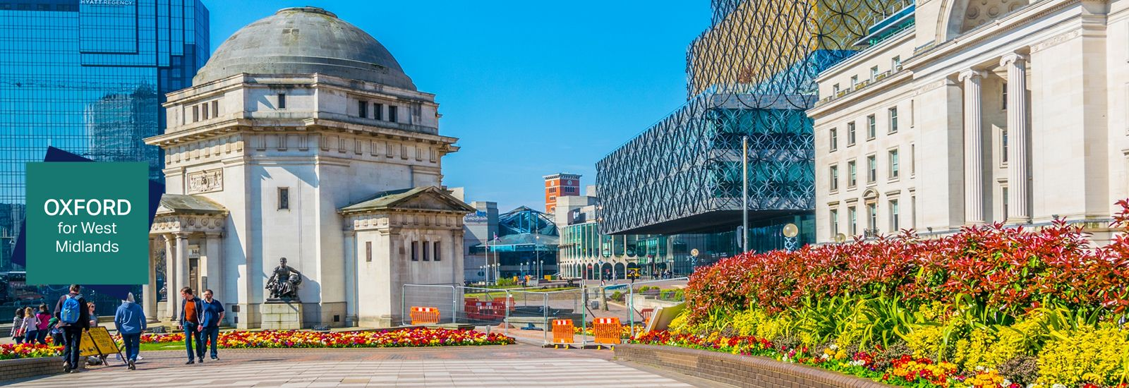 Hall of Memory, Library of Birmingham and Baskerville house