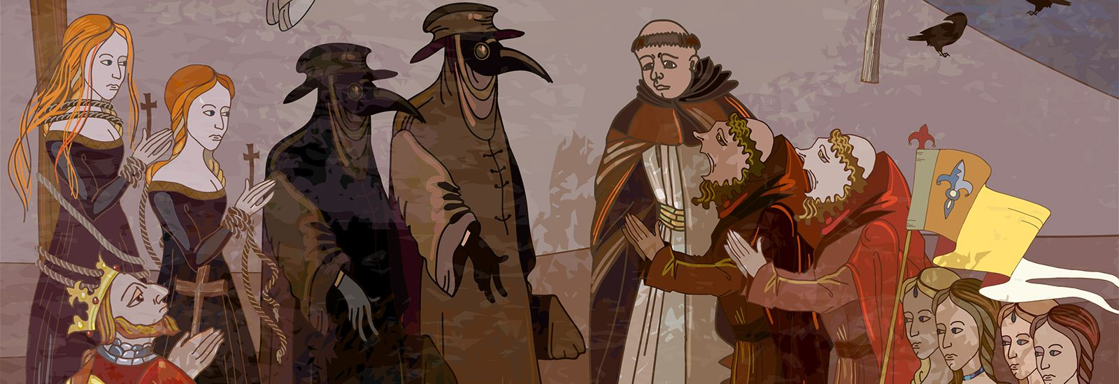 Illustration of the Black Death