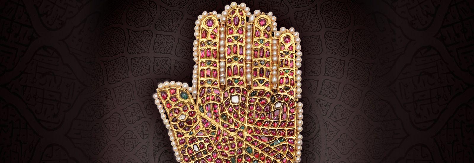 Jewelled hand art piece