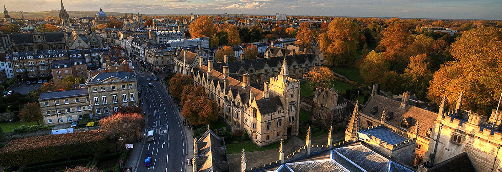 The Oxford skyline in autumn