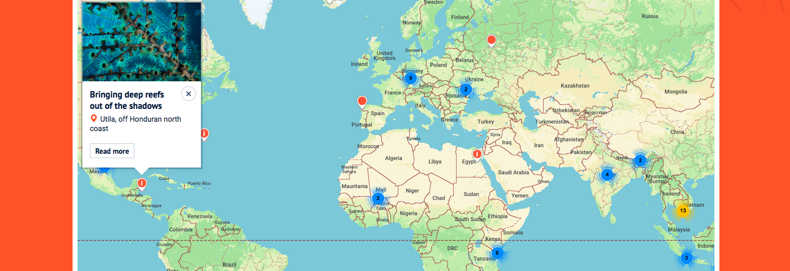 Oxford's Global Research Map