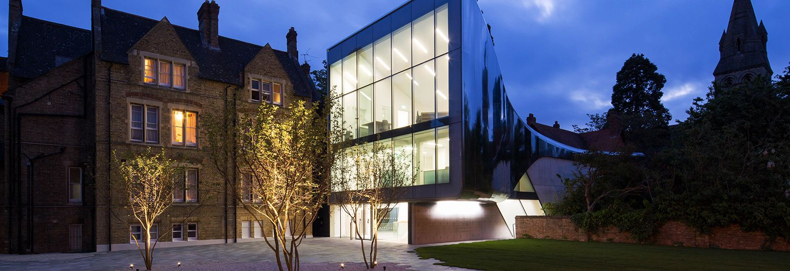 The new Investcorp Building in St Antony's College by Zaha Hadid Architects