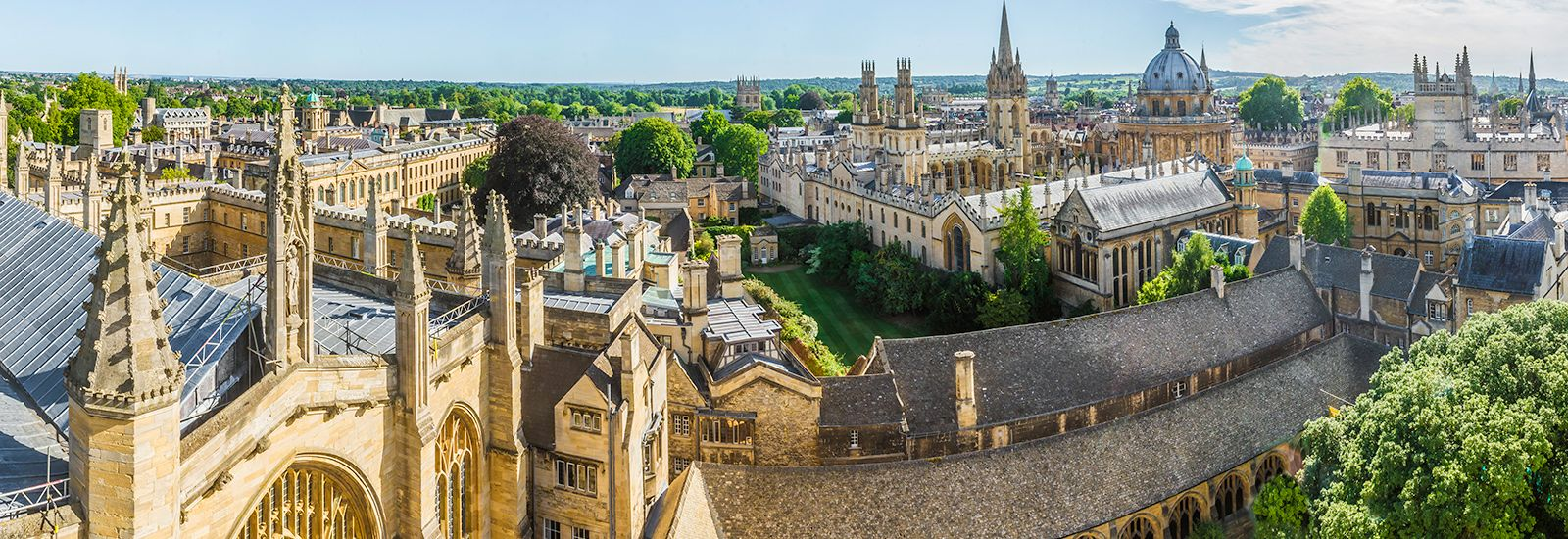 Oxford skyline, wide angle