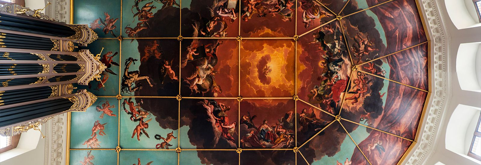Ceiling of the Sheldonian Theatre