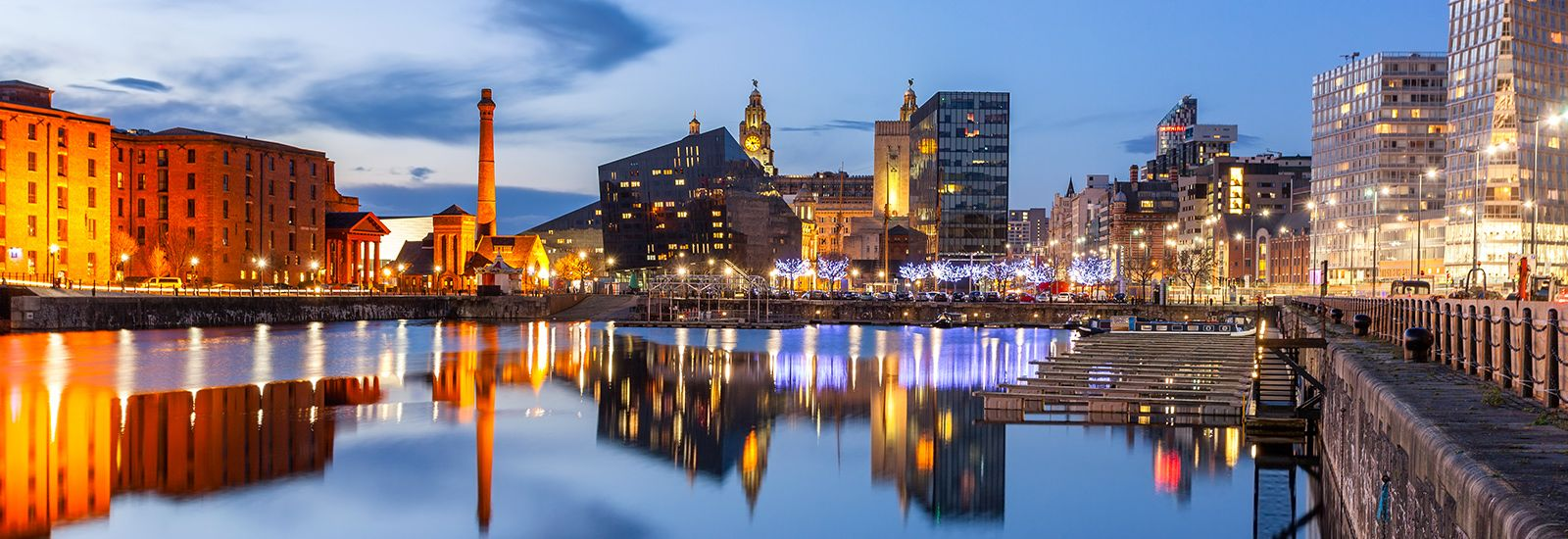 Night view of Liverpool
