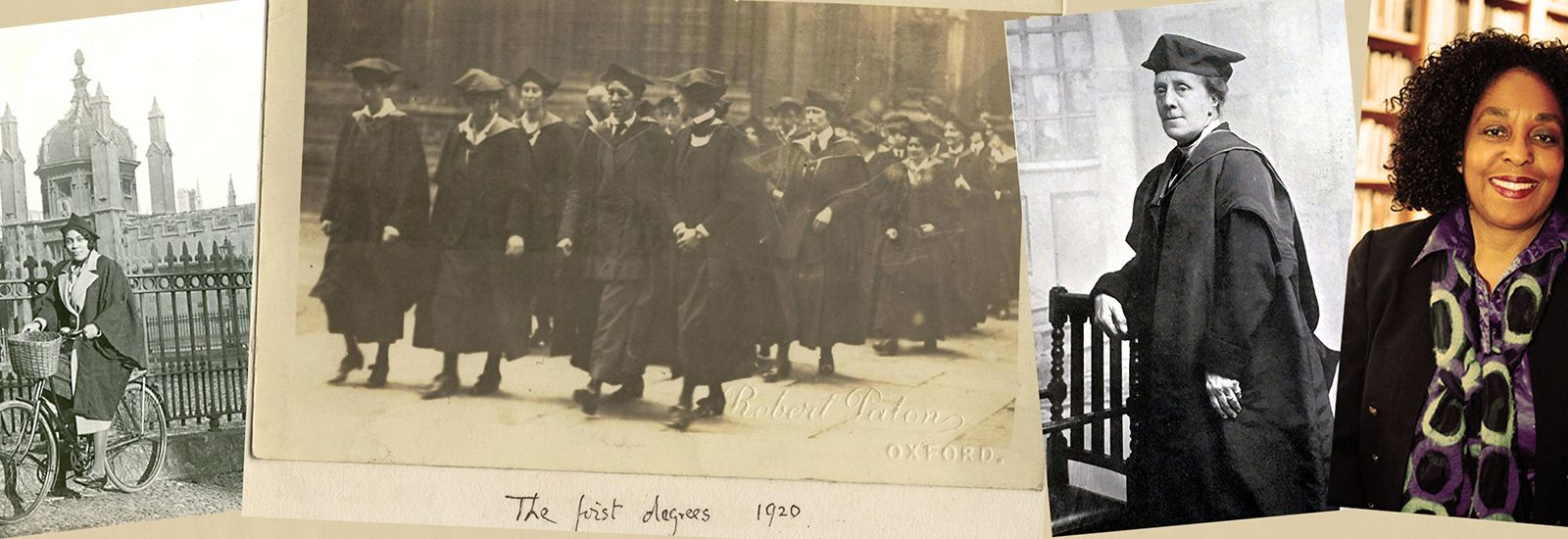 Images of women at Oxford from the past 100 years