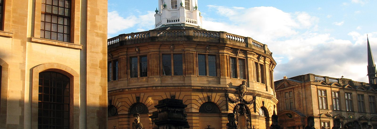 The Clarendon building, Sheldonian and History of Science museum at sunset
