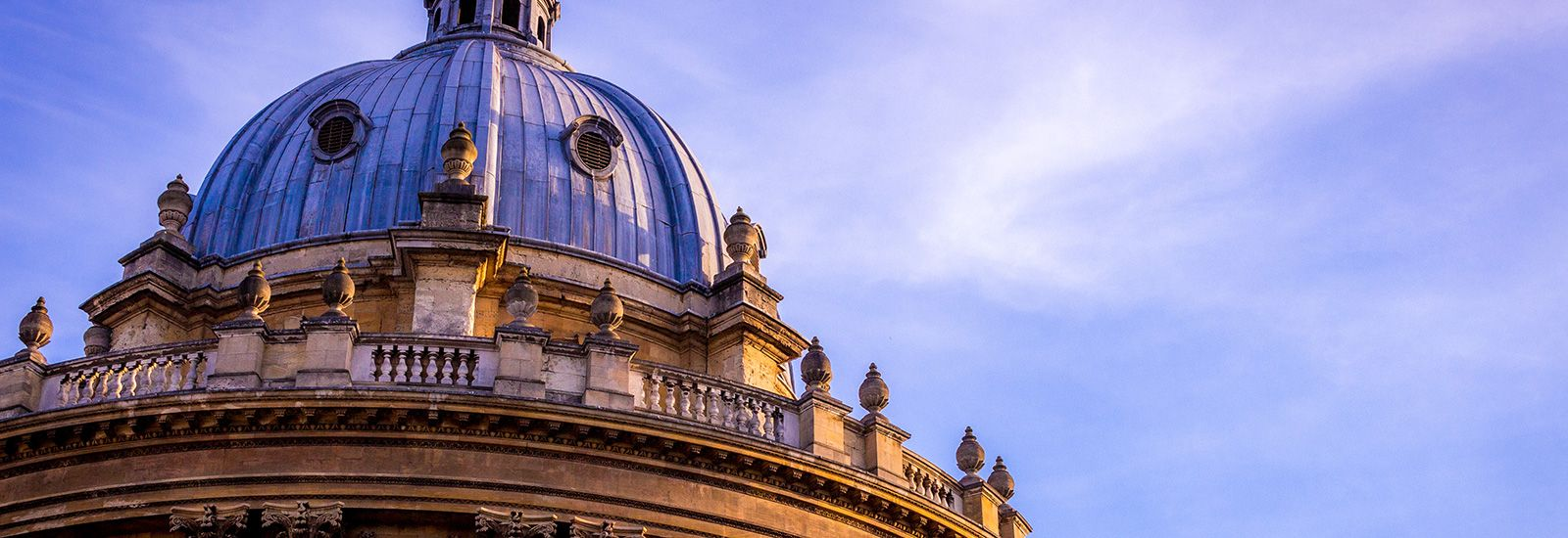The dome of the Radcliffe Camera against a blue sky