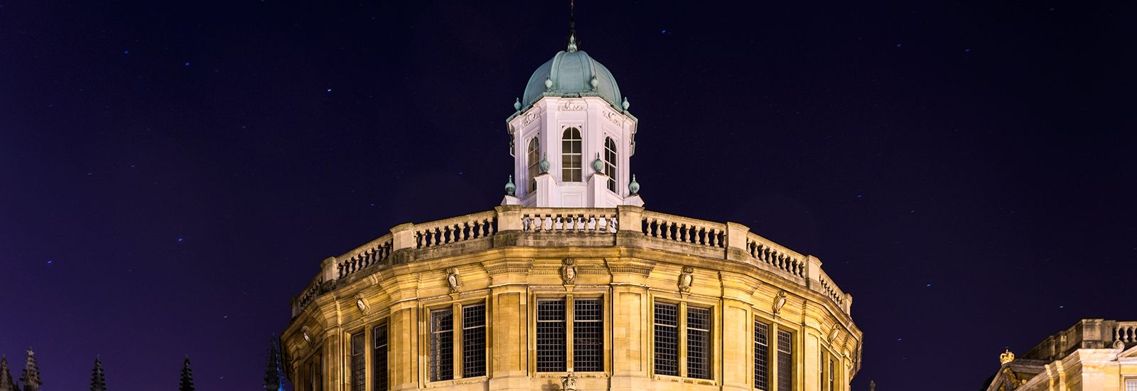 Sheldonian Theatre illuminated at night