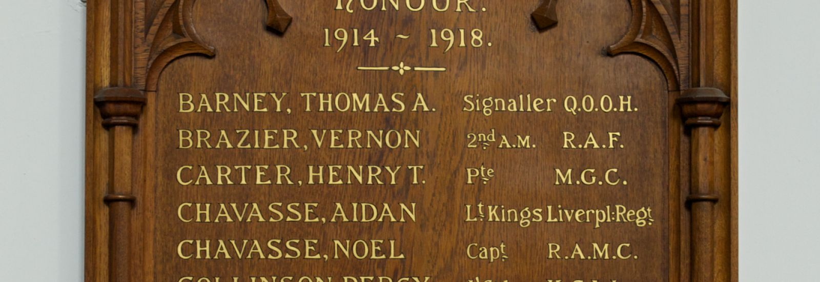 Lists of honour in St Peter's College