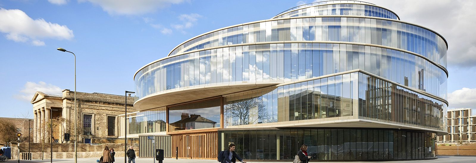 The Blavatnik School of Government building on a sunny day