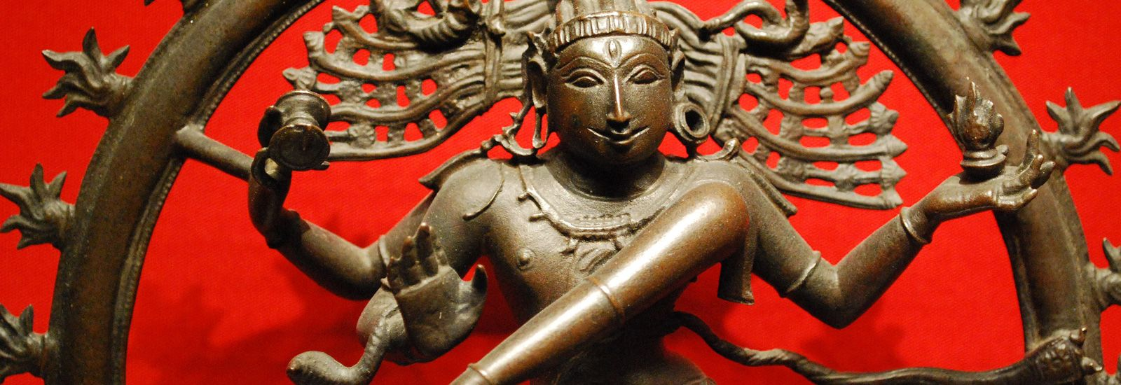 Detail of a statue of Shiva as Nataraja, Lord of the Dance, in the Ashmolean Museum