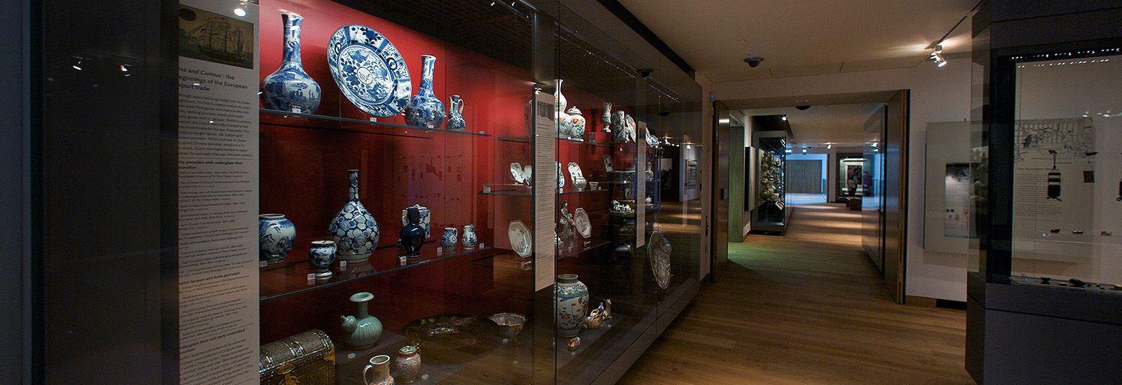 A ceramics gallery in the Ashmolean Museum