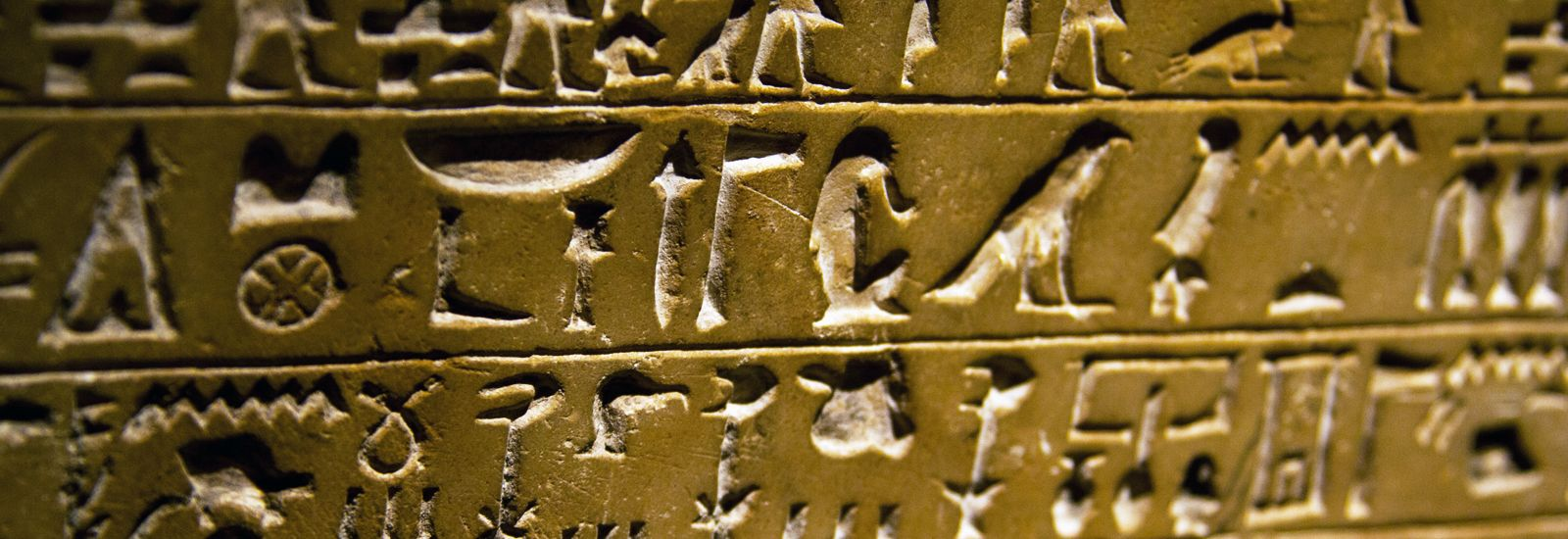 Hieroglyphs inscribed on a stone tablet